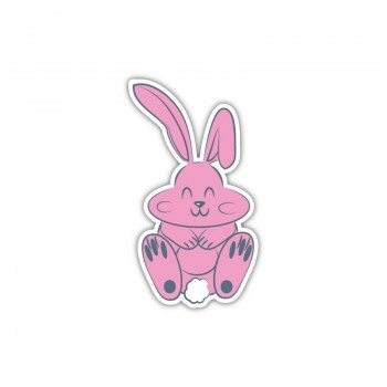 Sticker lapin rose